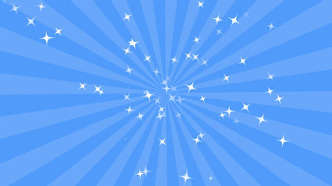 concentration line background blue CG動画素材