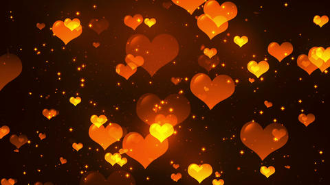 Hearts Background 3 Loopable Background stock footage