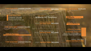 Concept Titles stock footage