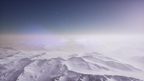 aerial view of snow covered terrain Footage