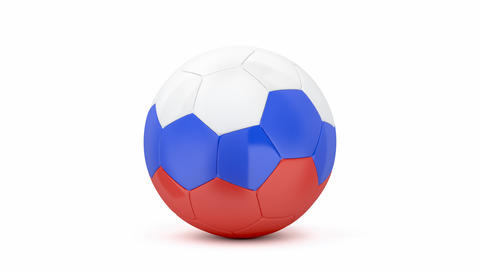 Soccer ball with on white background 애니메이션