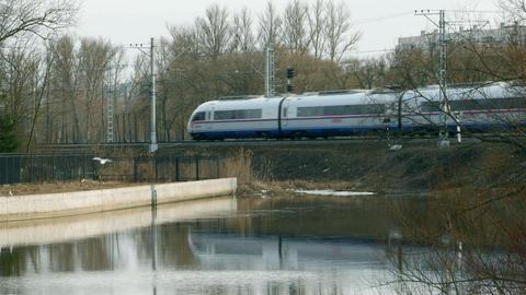 Railway intercity passenger express Peregrine Footage