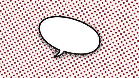 blank speech balloon in comic style animation Animation