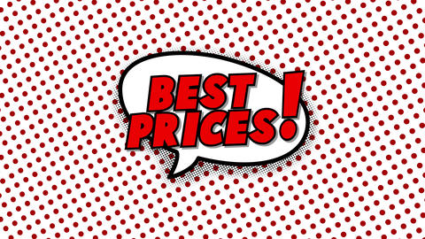 Best prices text in speech balloon in comic style animation Animation
