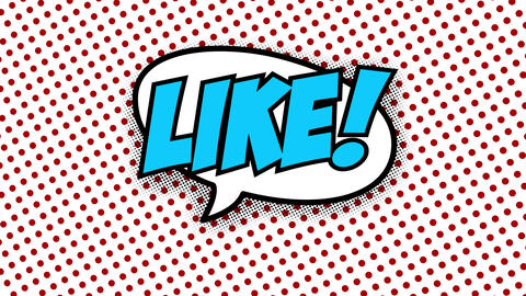 Like text in speech balloon in comic style animation Animation