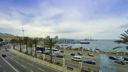 Enbankment street near sea port in Cagliari city, Sardinia, Italy Footage