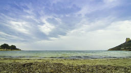 Calamosca beach (Spiaggia di Calamosca) in Cagliari, Sardinia, Italy Footage