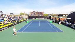 BNP Paribas Tennis FedCup game Ukraine vs Argentina in Kyiv Footage