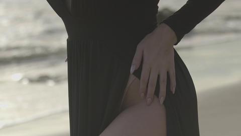 Legs of beautiful women by the sea Footage
