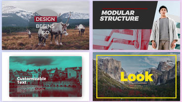 Modern Typography Titles Pack After Effects Template