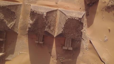 Meroe pyramids in the sahara desert Sudan (aerial view) Footage