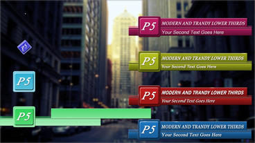 Modern and Trendy Lower Thirds After Effects Template
