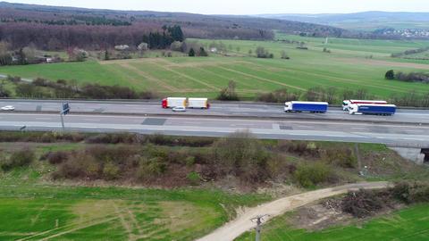 Aerial view of highway Footage