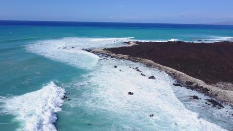 Flying Over The Rugged Coastline Of Hawaii Archivo