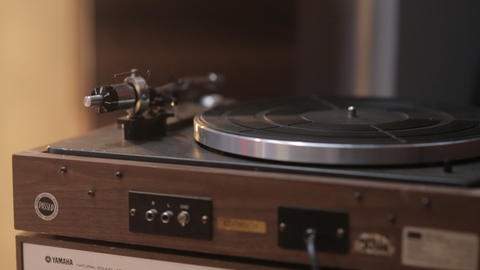 The Old Vintage Record Player Footage