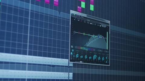 Sound meter plug-in in audio production software Live Action