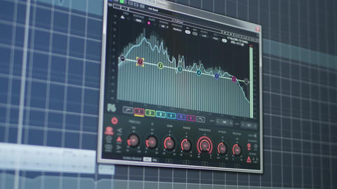 Sound levels in audio production software cubase Live Action