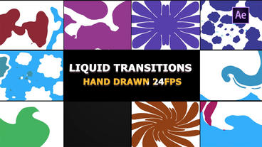 2D FX Liquid Transitions After Effects Template
