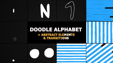 Doodle Alphabet And Transitions After Effects Template