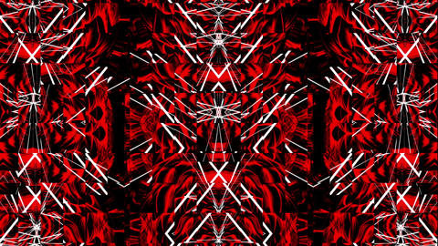 A Weird Dance of Red Crystals Full HD VJ Loop Animation