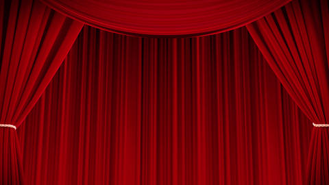 Curtain scene Stock Video Footage
