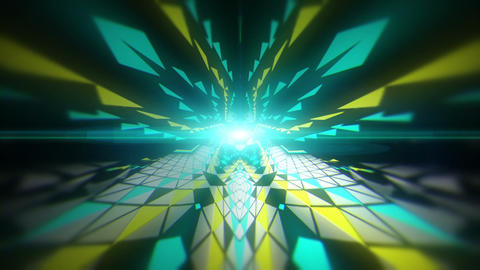 Cosmic Acid Crystal Tunnel Full HD VJ Loop Animation