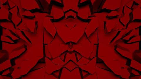 Red Pulse of Unusual Forms Full HD VJ Loop Animation