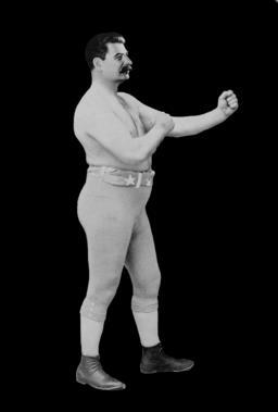 Joseph Stalin as a Boxer Photo