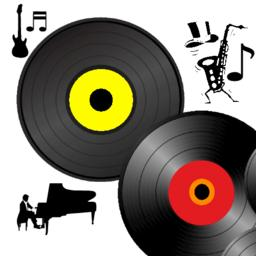 Vinyl Music Record Transparent Label Vector