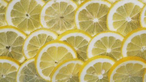 Lemon slices in water bubbles Image