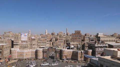 Bab al-Yemen - entrance to the Old City, Sana'a, Amanat al-Asimah, Yemen Footage