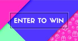 Enter to win. Vector banner with frame Vector