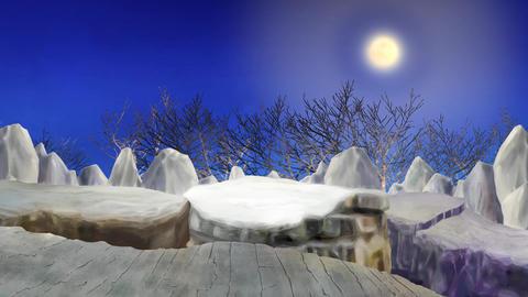 moonlight trees 2 Stock Video Footage