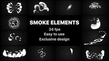 Smoke Elements After Effectsテンプレート