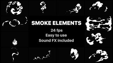 Hand Drawn Smoke Elements After Effects Template