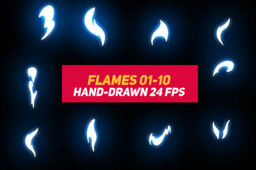 Liquid Elements 2 Flames 01-10 After Effectsテンプレート