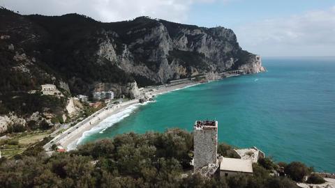 Drone View Of Baia Dei Saraceni In Varigotti Liguria Italy Image