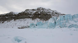Amazing ice desert landscape in Arctic Footage