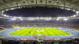 Football game FC Dynamo Kyiv vs Fiorentina (Time Lapse) Footage