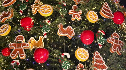 Christmas tree decoration details GIF