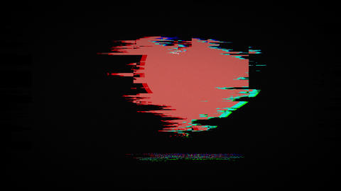 happy valentines day on old tv screen Animation