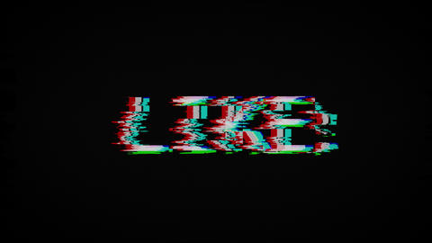 like text on old tv screen Animation