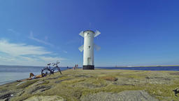 White old lighthouse in Swinoujscie, Poland Image
