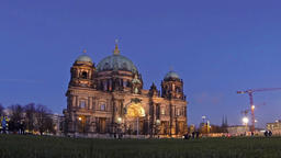 Berlin Cathedral (Berliner Dom) at evening, Berlin, Germany Footage