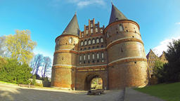 Holsten Gate in Lubeck, Germany (Time Lapse) Image