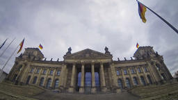 Reichstag building in Berlin, German parliament (Bundestag) Footage