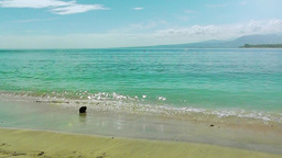 View of the azure sea and the island of Lombok.Gili Air... 動画素材, ムービー映像素材