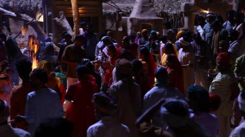 village poor people Night Life Footage