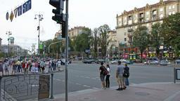 City crosswalk Time Lapse ビデオ