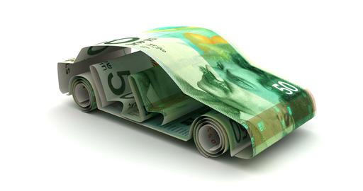Car Finance with New Israeli Shekel Animation